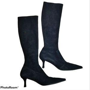 Stuart Weitzman pull on sock bootpoint boots